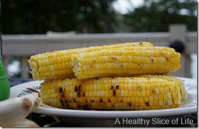 summer corn salad- grilled corn