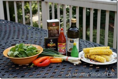 summer corn salad- ingredients