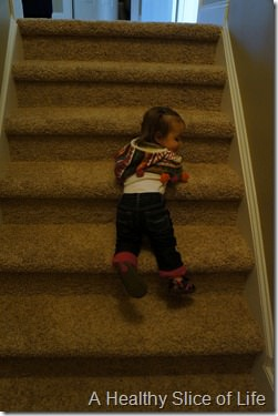 14 months old- stair master