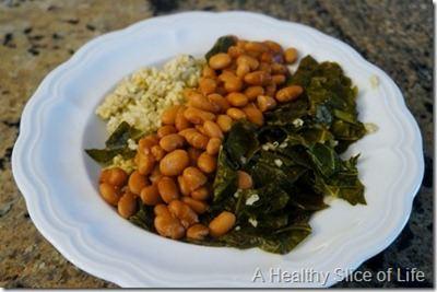 collards and quinoa