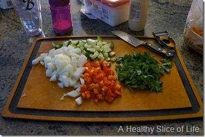 make ahead breakfast burritos- veggies