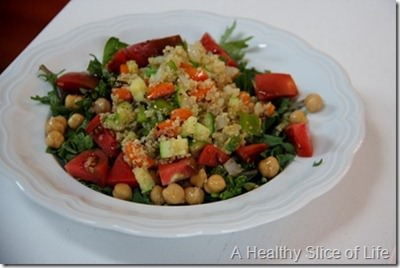 spinach chickpeas and quinoa