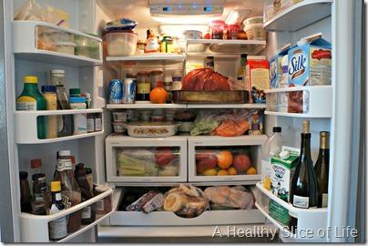 Christmas- packed fridge