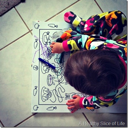 16 months old- loves to color