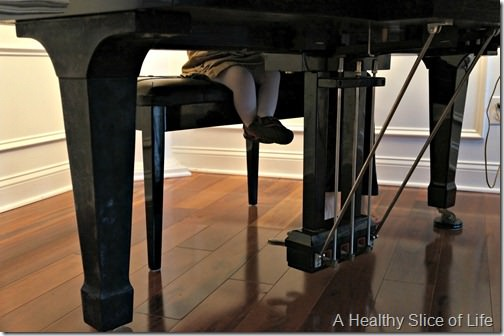 16 months old- piano toddler