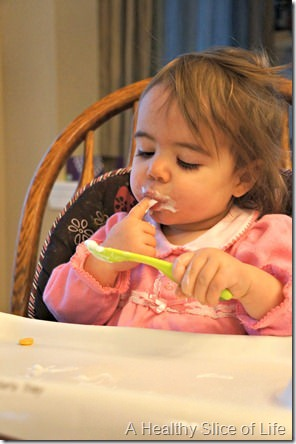 16 months old- uses a spoon