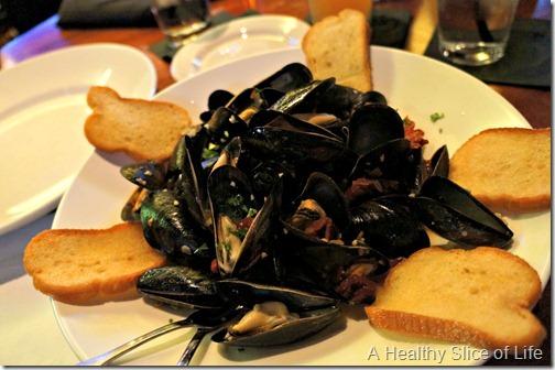 red rocks- mussels