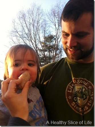 what I learned- frozen bananas for toddlers busted lip
