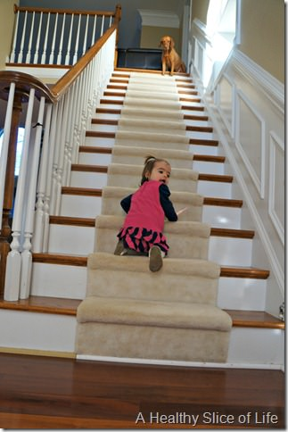 17 months- stairs