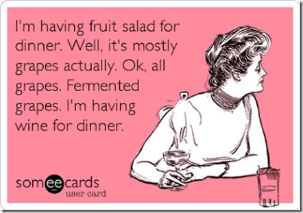 fermented grapes for dinner