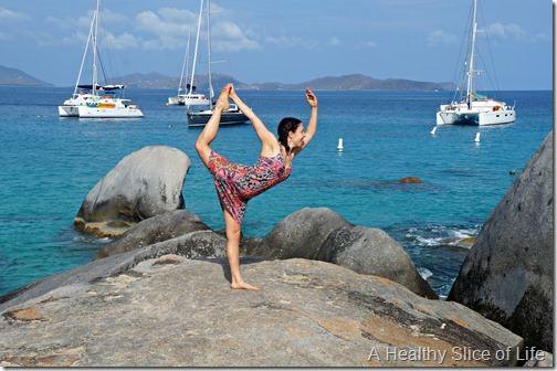 BVI sailing- Virgin Gorda- The Baths- yoga poses 2
