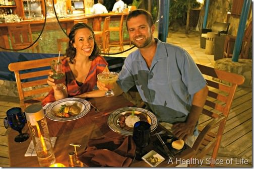 March Sailing- BVI- dinner on Peter island