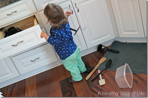 food rut redemption- keeping todder occupied in kitchen