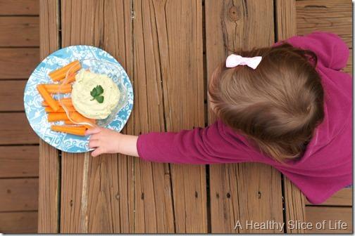 toddler dips- white bean dip- toddler approved