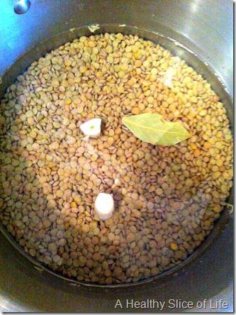 weekly food prep- dried lentils
