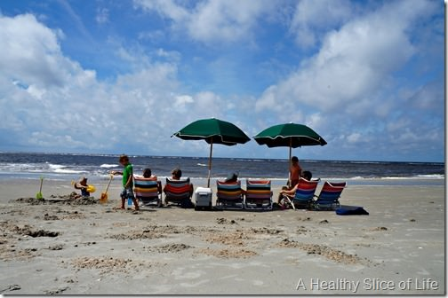 bald head island nc- beach set up