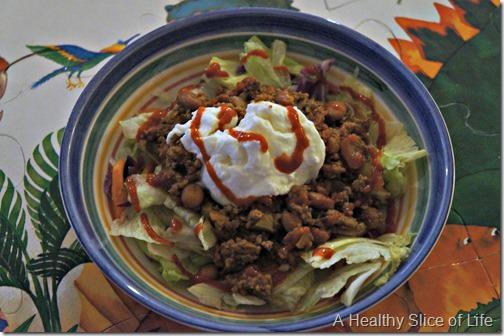 bald head island- taco salad