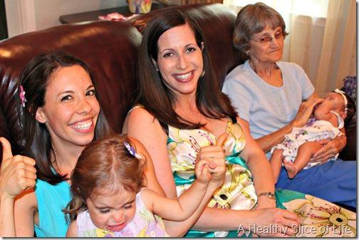 maya's baby shower- crying toddler
