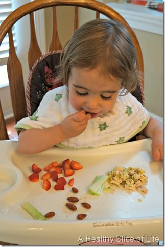 munchkin meals- odd toddler combos- almonds