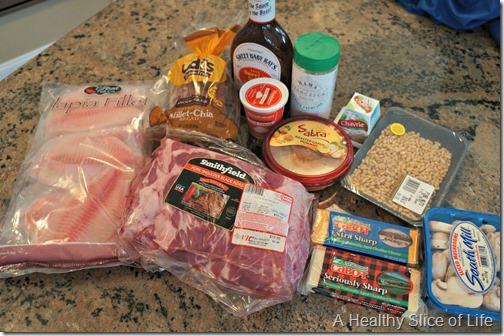 summer menu grocery shopping- harris teeter
