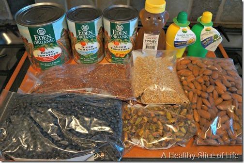 budget meal plan week 4- healthy home market bulk bin haul