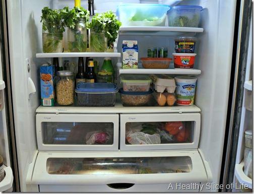 budget meal plan week 4- prepped fridge