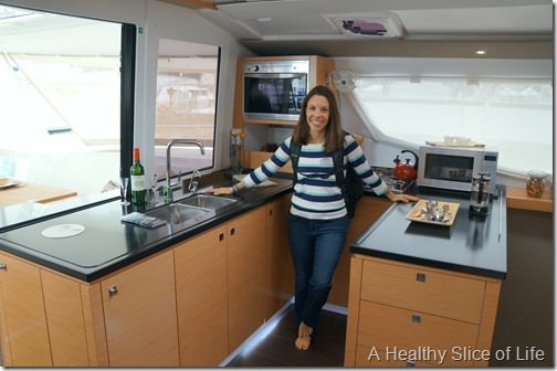 Annapolis boat show 2013- Fountaine Pajot Helia galley