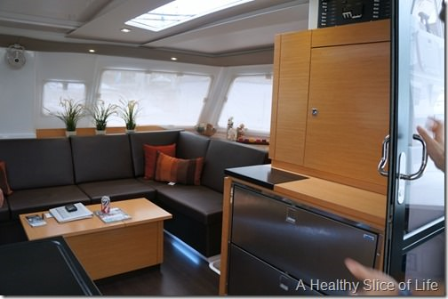 Annapolis boat show 2013- Fountaine Pajot Helia interior