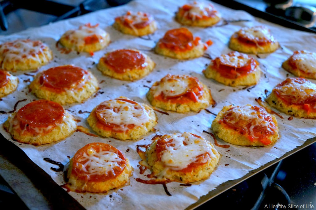 Hidden Veggie Cauliflower Pizza Bites