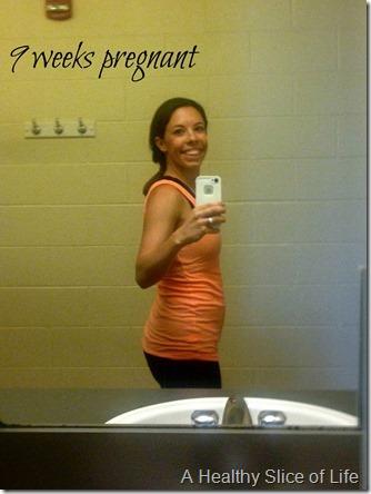 2013-10-04 - 9 weeks second pregnancy