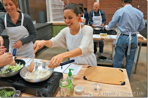 Chef Alyssa's Kitchen Cooking Class Atherton Mill- cooking