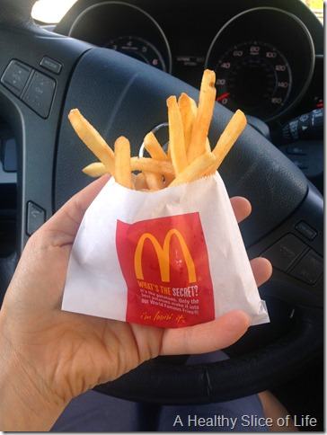 first trimester cravings- mcdonalds fries