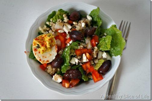 pregnancy eats- salad snack- olives