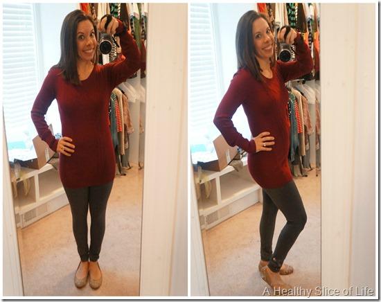 stitch fix maternity fashion- gray stretchy leggings