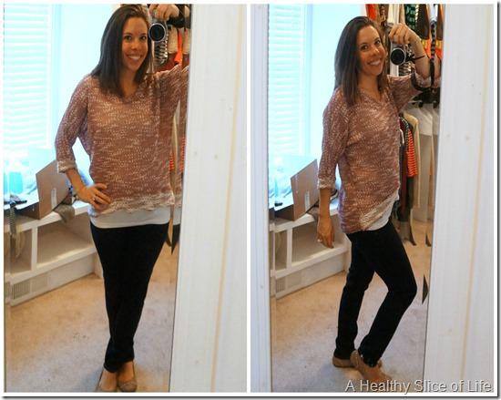 stitch fix maternity fashion- relaxed sweater