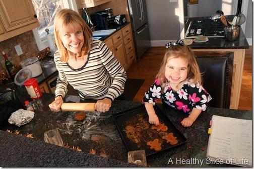 nana and hailey baking cookies
