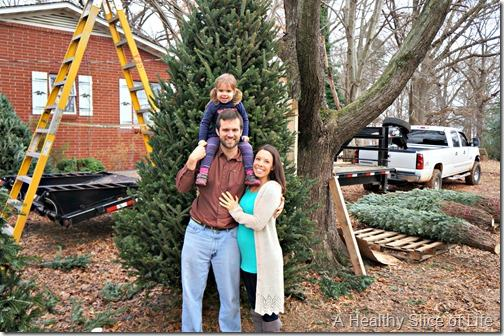 picking out our tree at joshs 2013