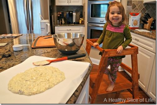 white chocolate and chia seed crunch- toddler helper