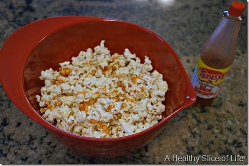 22 weeks pregnant meals- home popped popcorn and texas pete