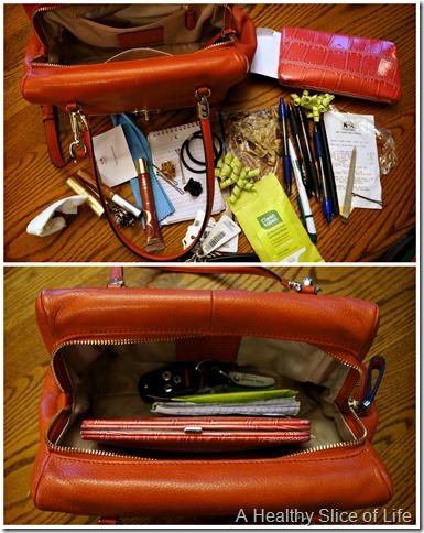 organization challenge day 2- purse before & after