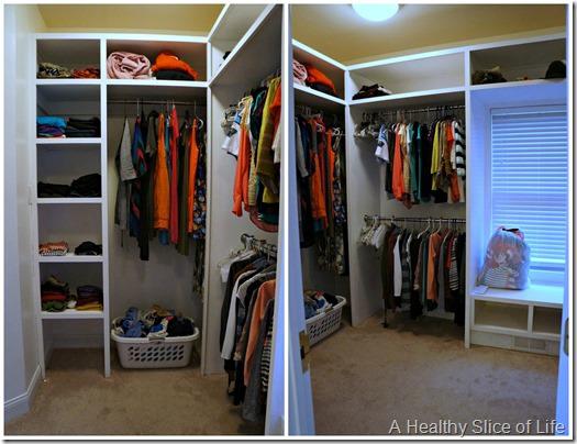 organization challenge day 3- master closet after