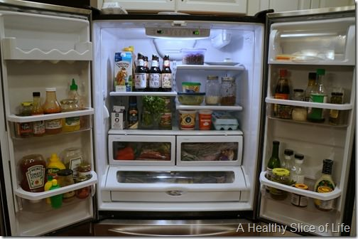 organization challenge day 4- fridge clean out after