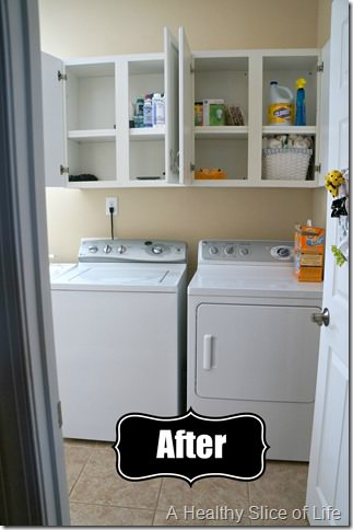 organization challenge- laundry room after A