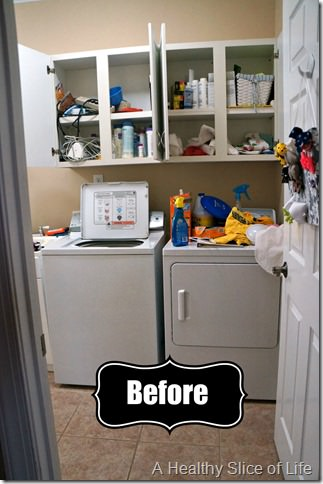 organization challenge- laundry room before a