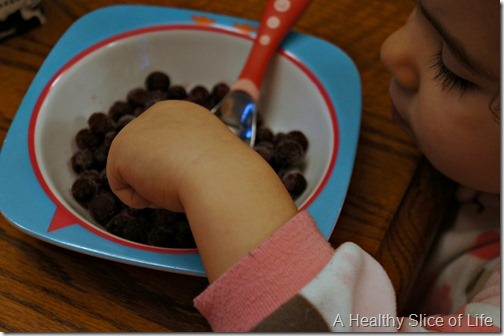 toddler meal prep- frozen blueberries