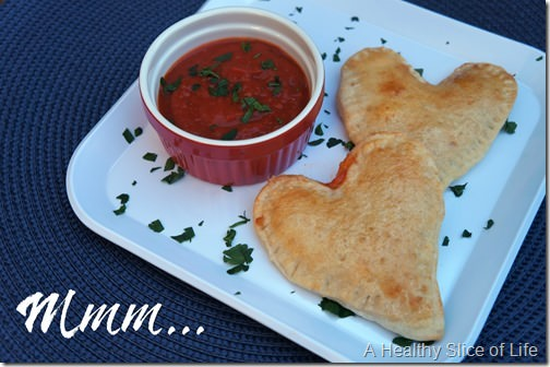 veggie calzones for kids- whole wheat