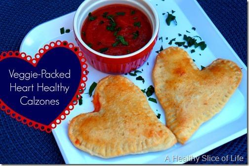 veggie packed heart healthy calzones