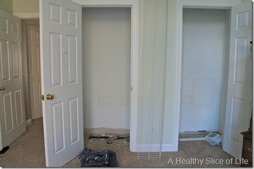big girl room transition- closet plumbing