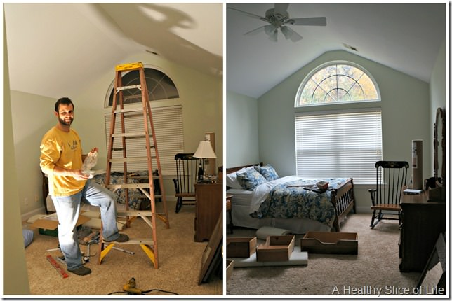 big girl room transition- fan before and after