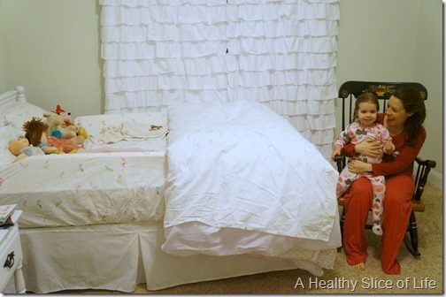 big girl room transition first night thumb Transitioning to a Big Girl Room & Bed